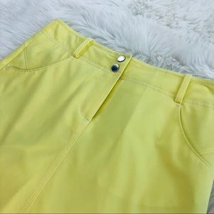 Annika Skirts - Annika Cutter & Buck Yellow Skirt Sz 2